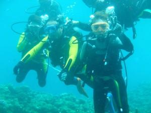青の洞窟で体験ダイビングをしましょう^^