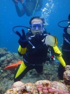 青の洞窟体験ダイビングです!