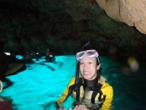 青の洞窟シュノーケルですよ^^