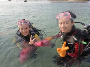 青の洞窟体験ダイビングです!!