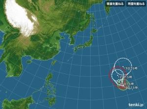 台風2号!