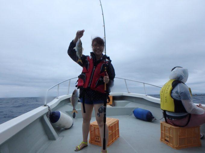 初!海釣り