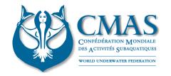 CMASは、国際的なダイビング指導団体です